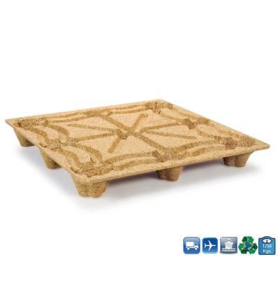 Palet de madera moldeada 1140x1140 Resistancia 1250kg