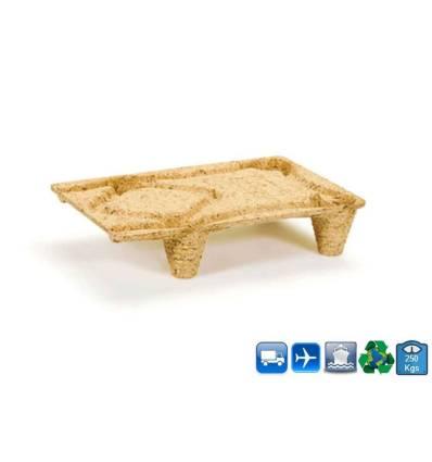 1/4 palet de madera comprimada 600x400 Resistancia 250kg