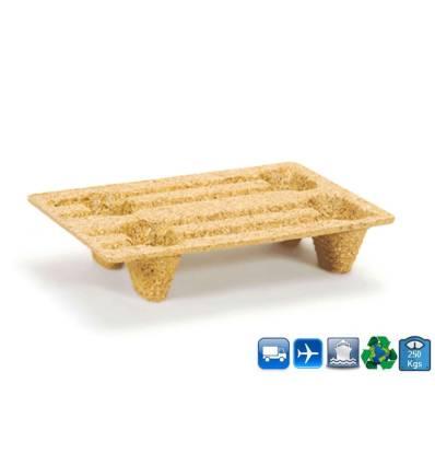 Plan et dimensions Palette en bois Moulée 40X60 Vue dessus