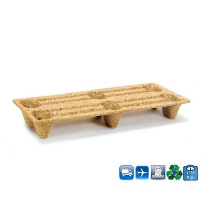 Palette Moulée bois composite 40X80 - 1 000 Kg plan technique