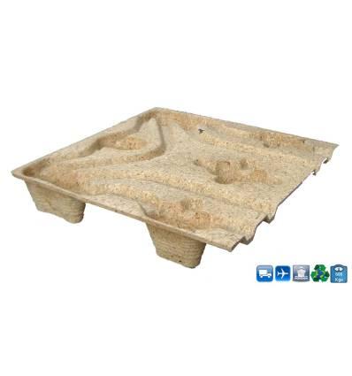 Pallet quadrato in legno Pressato 800x800 Carico 600kg