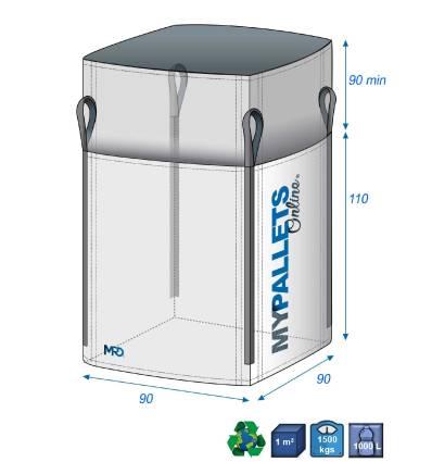 Bulk Bag Rubble & Building wastes 90X90X90-1500kg