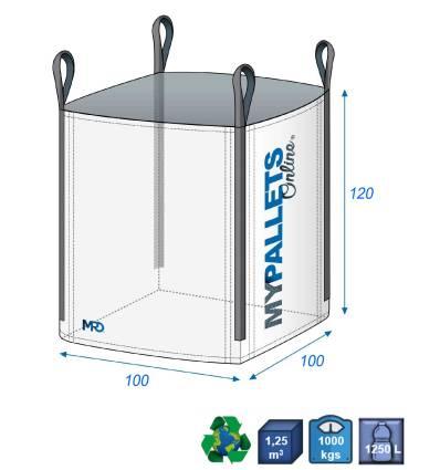 Bulk bak with ventilated wall 100X100X120-1000kg