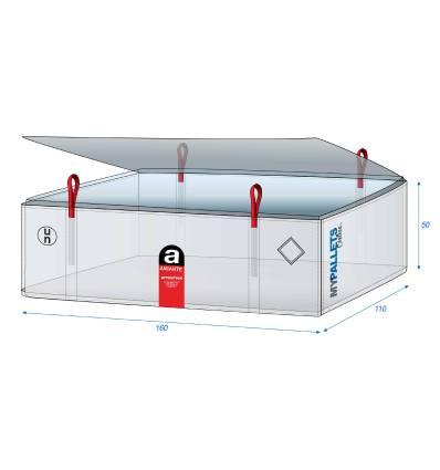 Big Bag Amianto para lámina de cemento 160X110X50 1000 kg
