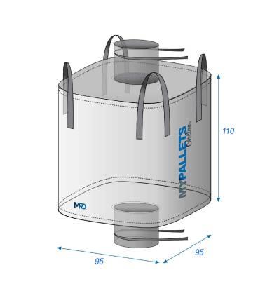 Bulk Bag For food 1000l leakproof seam 95X95X110 1000 kg