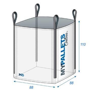 Big Bag sacs de chantier 0,85m3 88X88X110 1500 kg