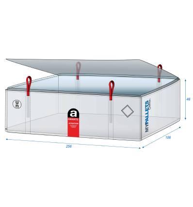 Big Bag Inliner für Asbest 30µ 260X110X50 1000 kg