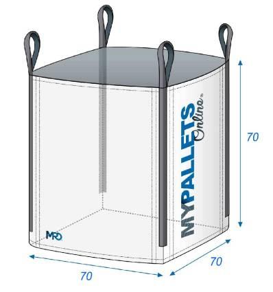 Big Bag Schutt 1 Tonne 70X70X70 1000 kg