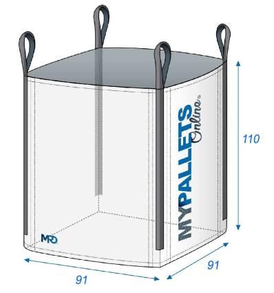 Big Bag Fitrant 91X91X110 1500 kg