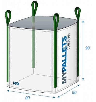 Bulk bag garden wastes and DIY 90X90X90 1000kg