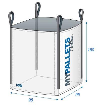 Big Bag Legno e Tronchi Ventilato 95X95X160 1250 kg