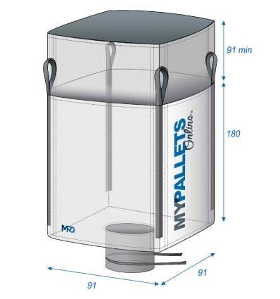 Bulk Bag food waste Dimension 91X91X91-1500kg