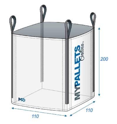 Big Bag 2 tonnes produits lourds 110X110X200 2000 kg