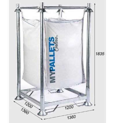 Soporte para BigBags con estructura reforzada Dimensiones 1560X1560X1680