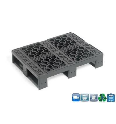 Palette Plastique 600 X 800 X 160 -Multi-Rotation - Plateau Ajouré