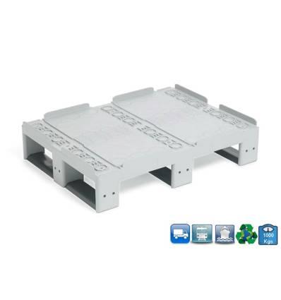 Palet de plástico 600x800 mm Multi-Rotación Resistancia 1000kg