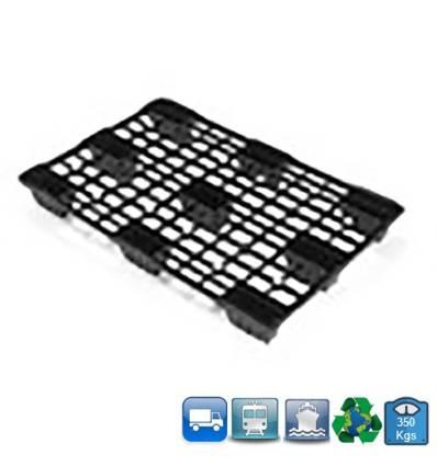 Palet de plástico 1200x800 mm Resistancia 350kg - Ligero