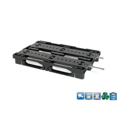 Palette Plastique 800X1200 Emboitale & Rackable