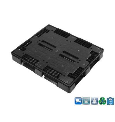 Palette Plastique 1000X1200 5 Semelles & Plateau Plein
