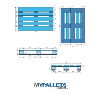 Wooden Pallet 800 X 1200 X 144 - Epal (Exchange Pallet)