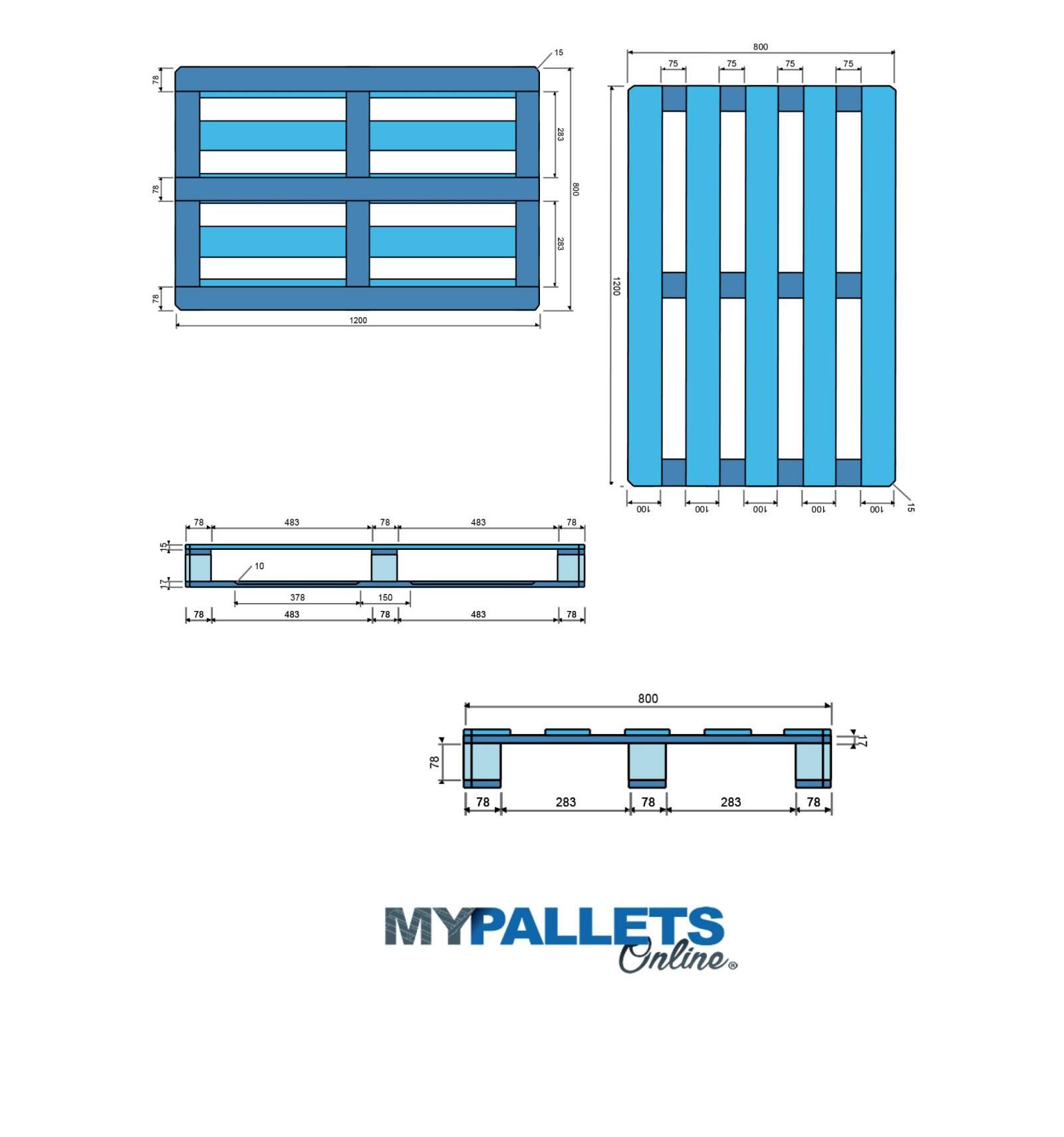 mypalletsonline palette bois l g re dimension 80x120. Black Bedroom Furniture Sets. Home Design Ideas