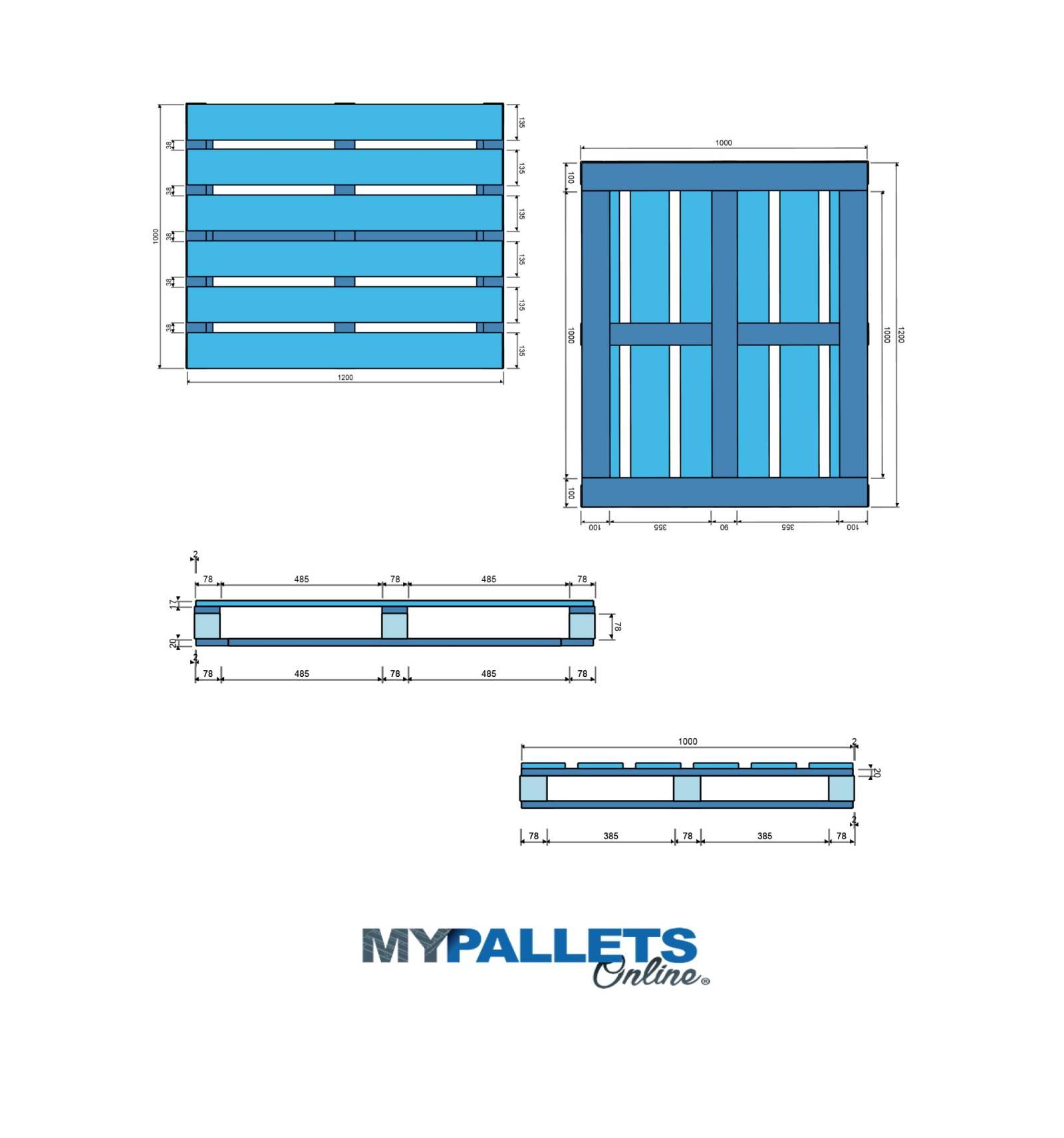 mypalletsonline palette neuve cadr e dimension 100x120. Black Bedroom Furniture Sets. Home Design Ideas