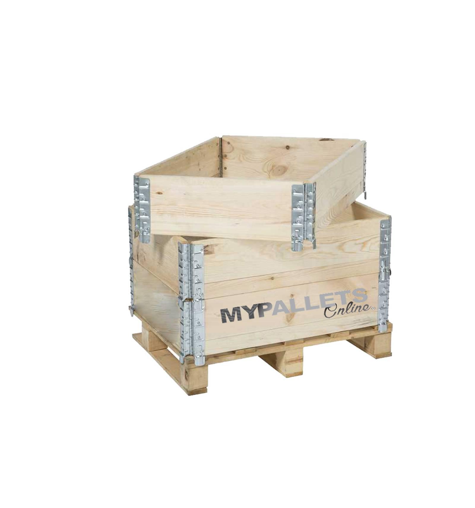 MyPalletsOnline Rehausse Pliante Neuve pour Palette 600X800 # Rehausse Palette Bois
