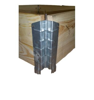 Paretali in legno con 2 tavole 1200x1000 per bancali