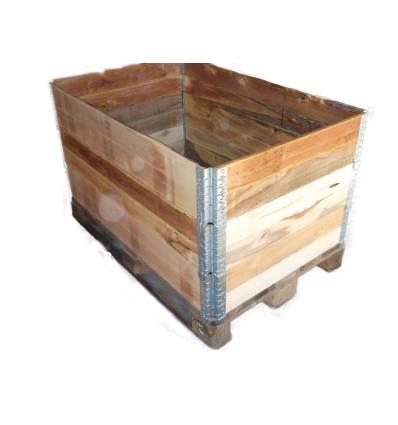 Aro usado plegable de madera para palet industrial 1200x1000
