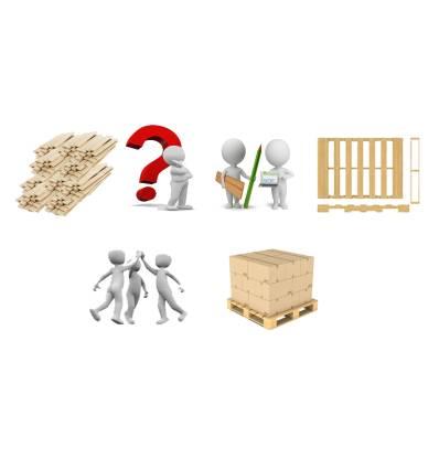 Kundenspezifische Paletten - Alle Dimensionen