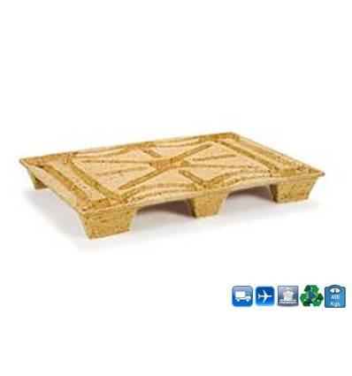 Palet de madera comprimada 1200x800 Resistancia 600kg