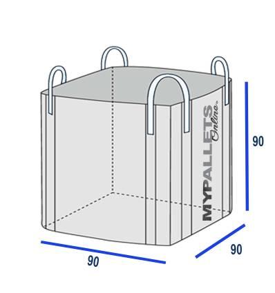BigBag 90 X 90 X 90 - Supporte 1 000 Kg - Volume 1 m3