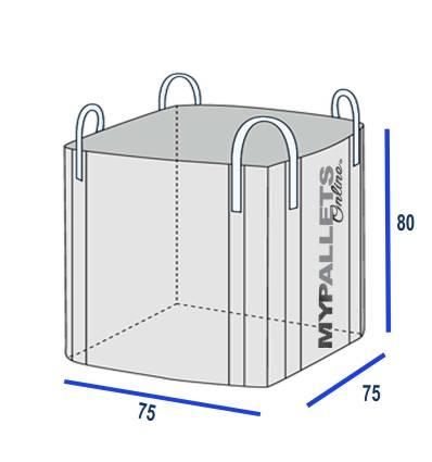 Big Bag 75 X 75 X 80 - Supporte 1 000 kgs - Volume 0.75m3