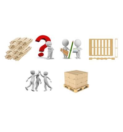 Kundenspezifische Kartonpalette